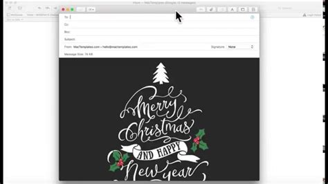 card email template for apple mail stationary