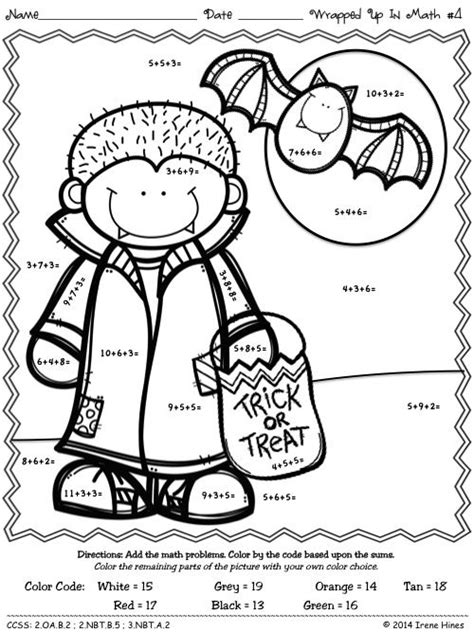 halloween coloring pages math pinterest the world s catalog of ideas