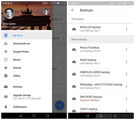 drive app android drive on android now has a dedicated app and device backup section android authority