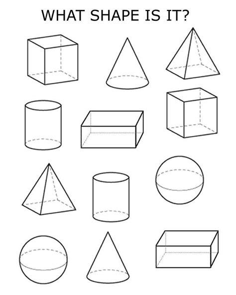 printable shapes worksheet 3d shapes homeschooling pinterest 3d shapes