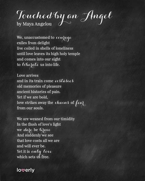 Touched by an Angel, by Maya Angelou   Poem / reading for