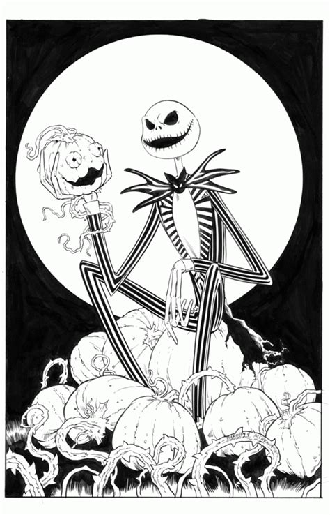 jack skellington coloring page coloring home