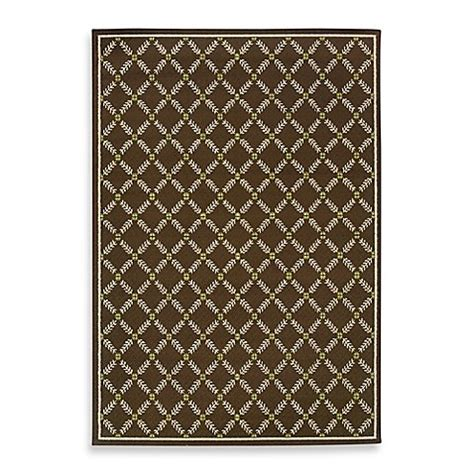 Mildew Resistant Outdoor Rugs Weavers Caspian Brown Indoor Outdoor Rug Bed Bath Beyond