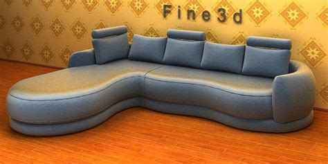 sci fi couch sci fi style sofa 3d model max obj 3ds