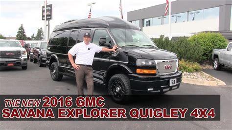gmc savana 4x4 for sale new 2016 gmc savana explorer quigley 4x4 lifted conversion