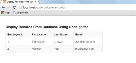 codeigniter mongodb tutorial display records from database using php codeigniter
