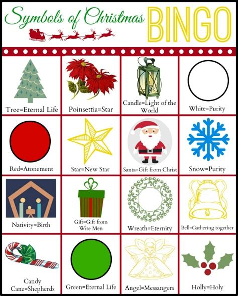 symbols of christmas bingo a christmas lights tradition