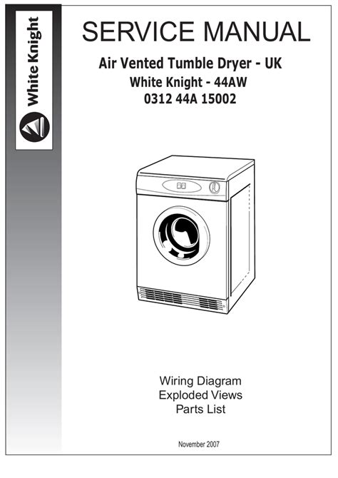 white tumble dryer wiring diagram white