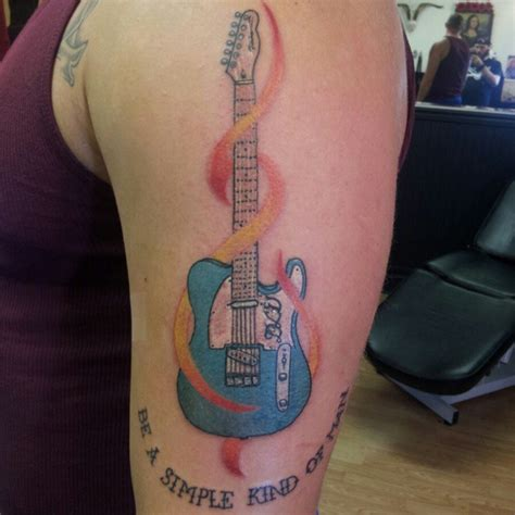 simple guitar tattoo design guitar tattoos and designs page 207