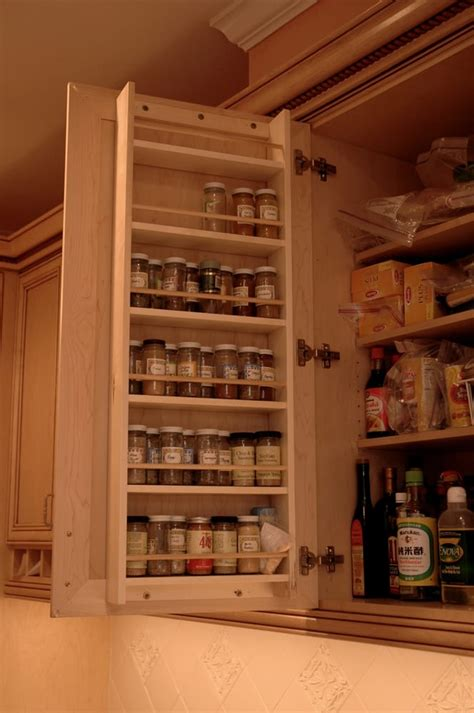 Built In Spice Rack Built In Spice Rack For A Clean Look On Your Counter Tops
