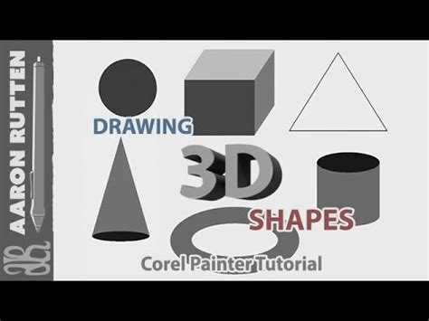 corel painter pattern corel painter tutorial how to draw 3d shapes youtube