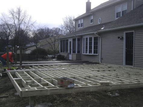 composite deck construction deck building march 2013