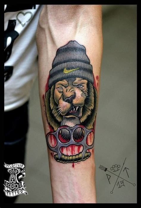 new school brass knuckles tattoo great forearm pictures part 7 tattooimages biz