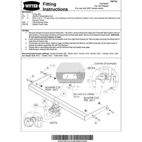 wiring diagram for vw passat towbar