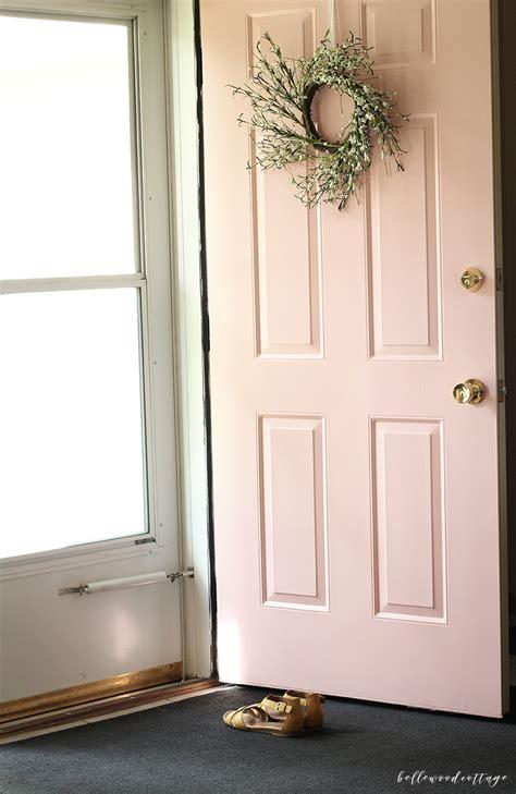 Pink Front Door Paint Pink Front Door Reveal Bellewood Cottage
