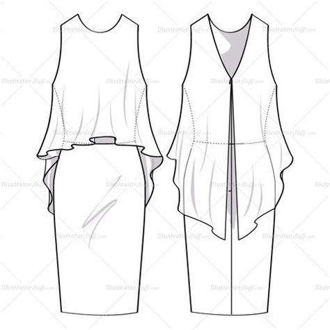 flat drawing template 1000 images about technical drawing clothes on