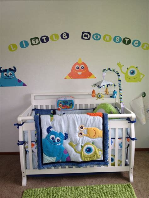 monster inc crib bedding monsters inc baby baby pinterest monsters inc