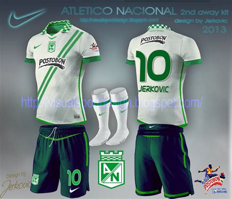 Jersey Away Atl Madrid 2014 2015 visual football kit design atletico nacional nike