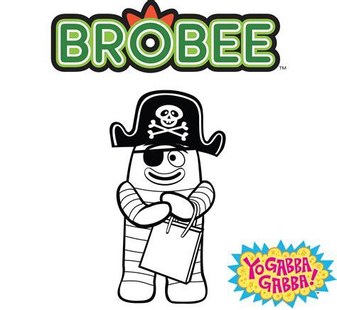 yo gabba gabba coloring pages games color pirate brobee yo gabba gabba live pinterest