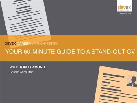 what does cv stand for your 60 minute guide to a stand out global development cv