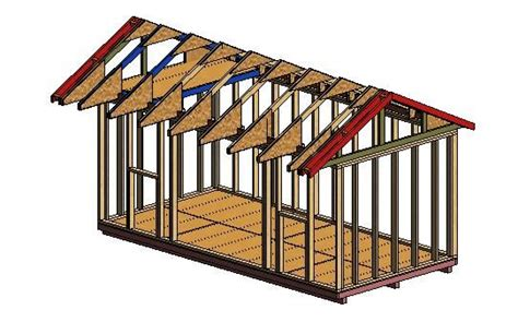 Shed Gable Roof Framing Shed With Overhang Plans Most Popular Wood Shed