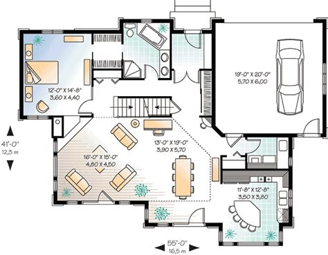 Standard Floor Plan Dimensions French Doors And Windows 21557dr Architectural Designs