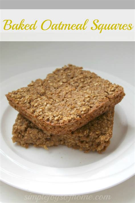 Simple Joys Of Home 5 Baked Oatmeal Squares Simple Joys Of Home