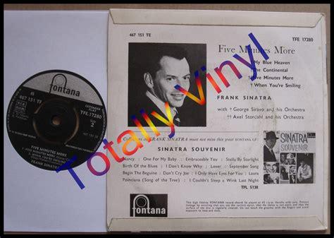 frank sinatra my blue heaven vinyl totally vinyl records sinatra frank ep five minutes