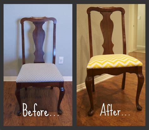 Reupholster A Dining Room Chair Dining Room Chair Reupholster Diy Refinishing Re Purposing Pinte