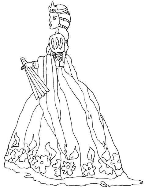 renaissance princess coloring pages imprime le dessin 224 colorier de princesse