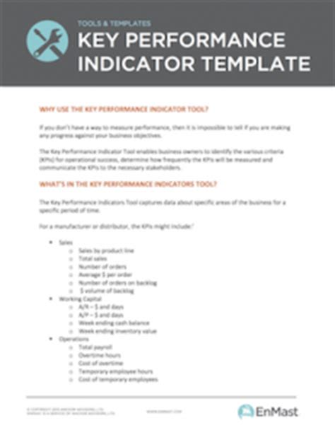 small business key performance indicator template