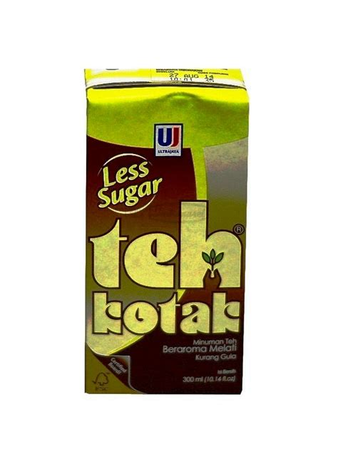 Teh Kotak Less Sugar ultra teh kotak less sugar tpk 300ml klikindomaret