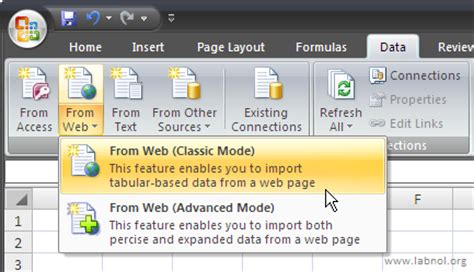 tutorial web data extractor get live data from web pages into excel spreadsheets with