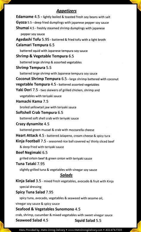 cheddars lincoln ne menu kinja sushi japanese cuisine menu 402 488 7800