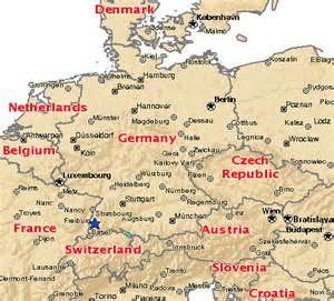 map of freiburg germany map freiburg