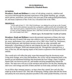 sample film proposal template 9 free documents in pdf word
