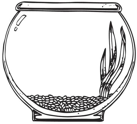 empty fish bowl coloring page empty fish bowl coloring page 14583
