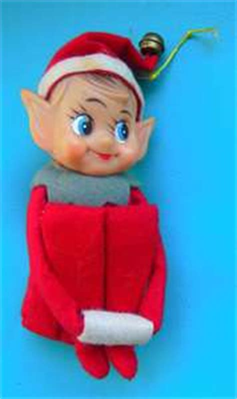 Original On The Shelf Doll by Vintage Felt Elves On A Shelf Carol