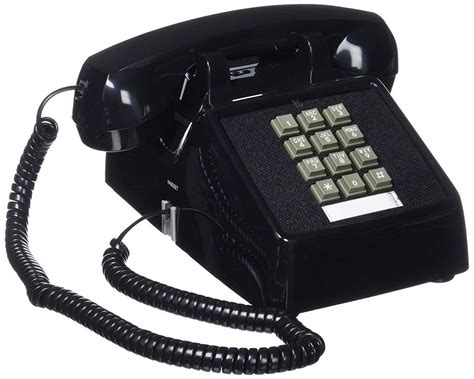 new single line desk telephone push button corded home