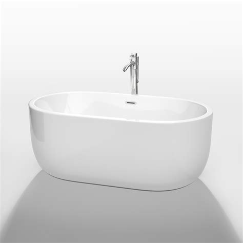 wyndham bathtubs juliette 60 quot soaking bathtub by wyndham collection white