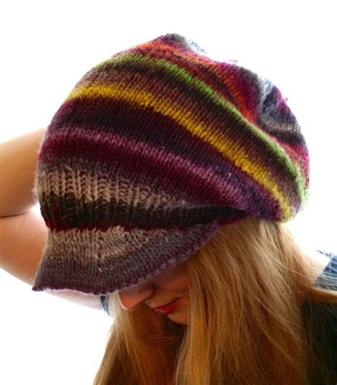 rasta beanie knitting pattern rasta hat slouchy slouchy beanie slouch hat by