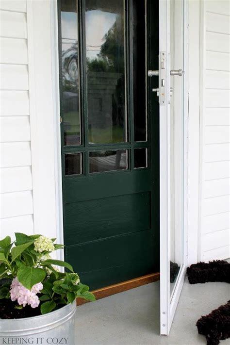 benjamin moore essex green paint keeping  cozy porch