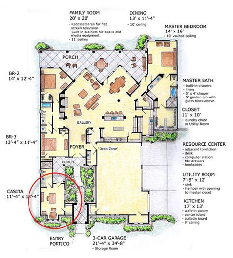 house plans with casitas free home plans casita house plans