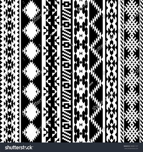 tribal pattern black black white tribal navajo seamless pattern stock vector
