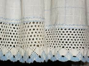 Blue And White Kitchen Curtains Vintage Kitchen Curtains Valance White And Blue With Wide