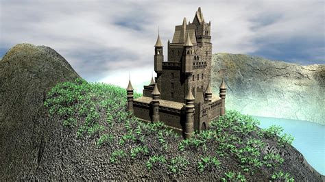 old castle old castle in an amazing place maya animation youtube