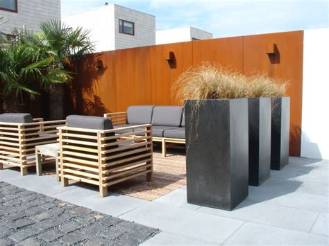 Home Design Exterior Pics by Tuinproject Met Cortenstaal