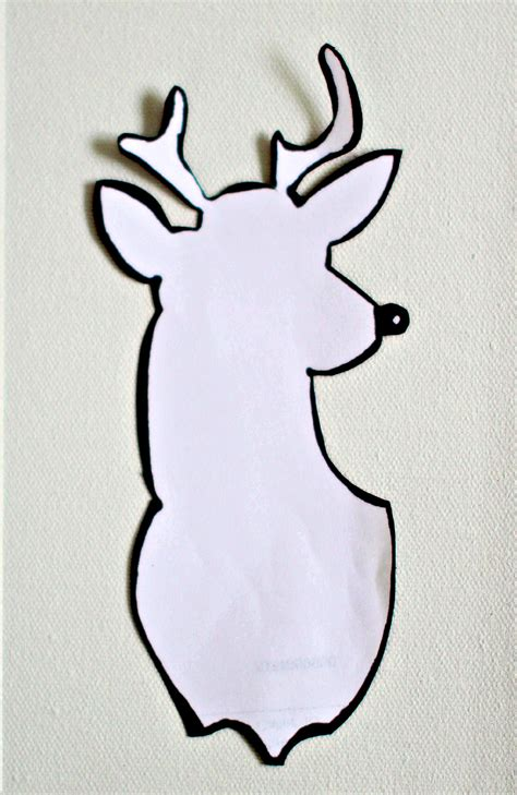 bright deer head canvas with chevrons project by decoart