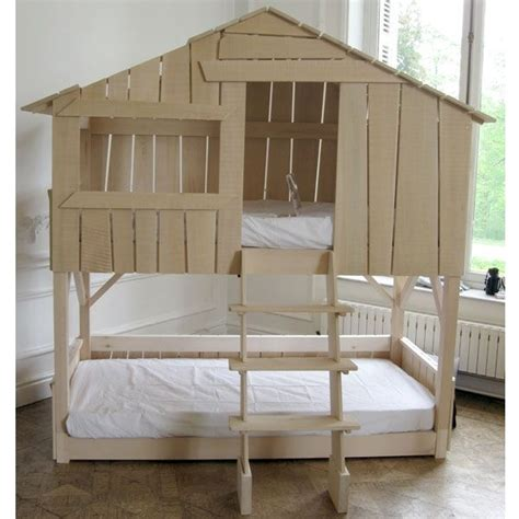 meuble bois 1264 lit superpos 233 cabane chambre noisettes lit
