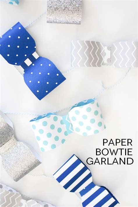 Make Your Own Paper Garland - create your own paper bowtie garland using the we r memory